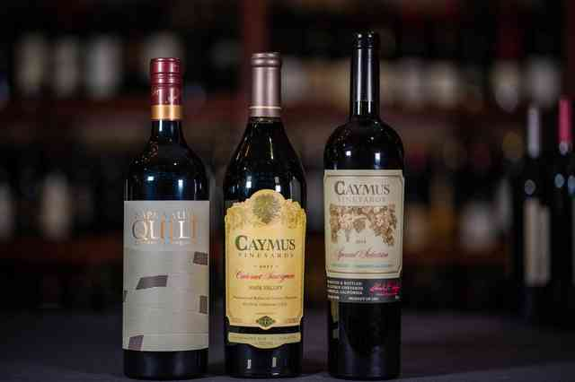 caymus wine bottles