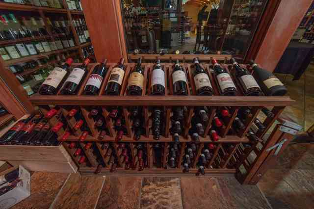 italy wine rack with bottles