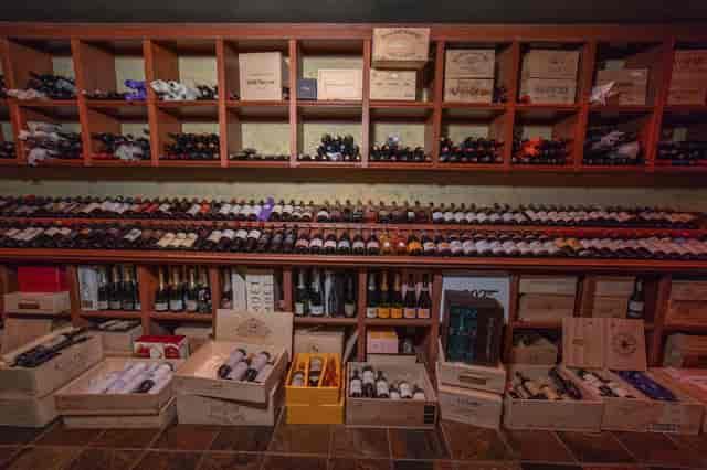wide view wine bottle wall