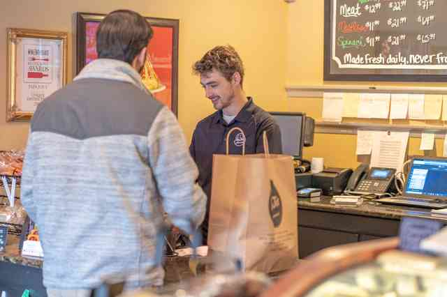 customer and cashier