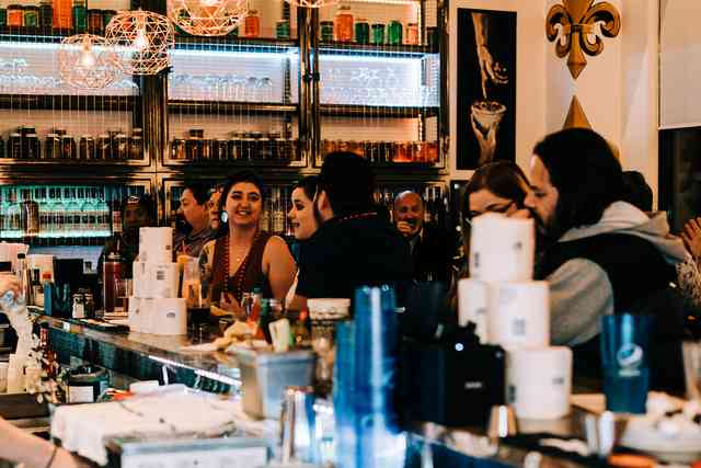 bar customers