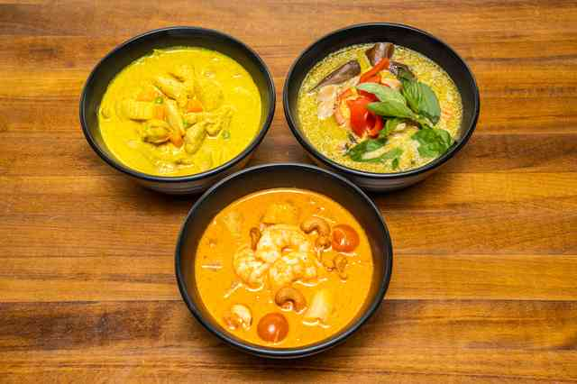 Three Southeast Asian dishes