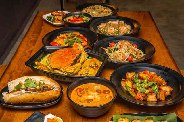 Assortment of Southeast Asian dishes