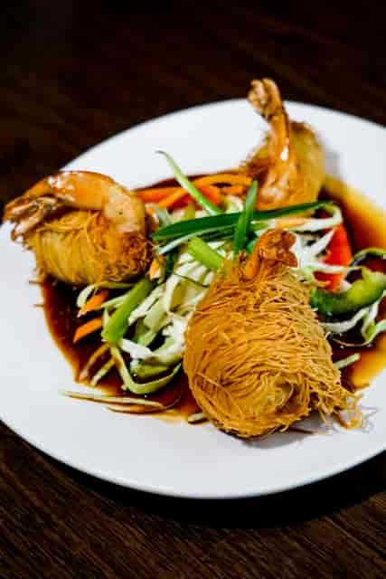 fried wrapped shrimp