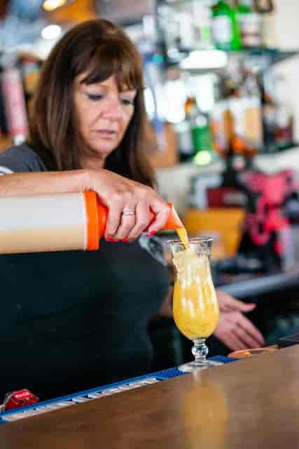 bartending mixing a drink