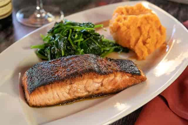 Salmon with Maple glaze
