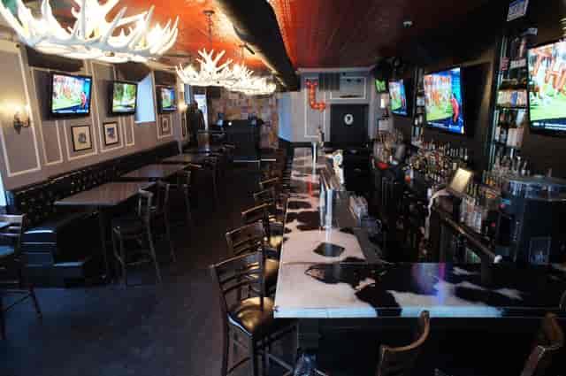 bar with lighting
