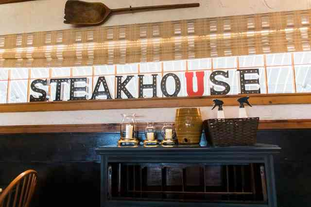 steakhouse sign