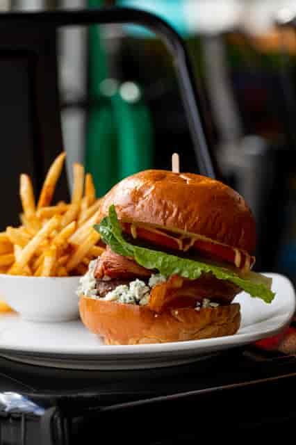 bacon n bleu burger