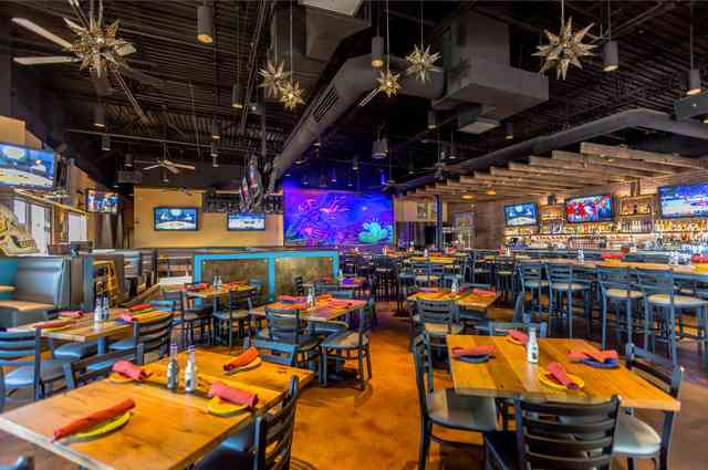 north scottsdale inside, spacious colorful decor, with Mexican star lighting.