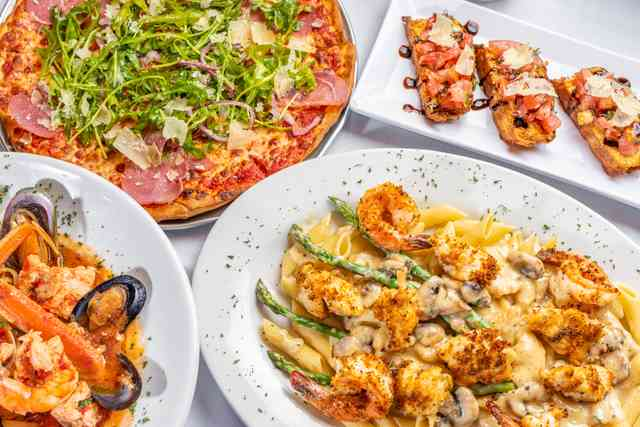 Hero shot of different dishes offered at Sister Sicily