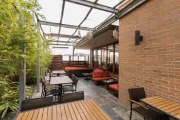 Bamboo patio