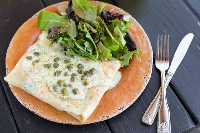crepe and salad