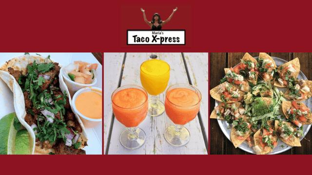Maria's taco express sign