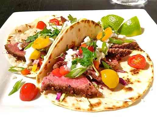 grilled steak taco