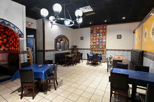 Interior socially distanced dining