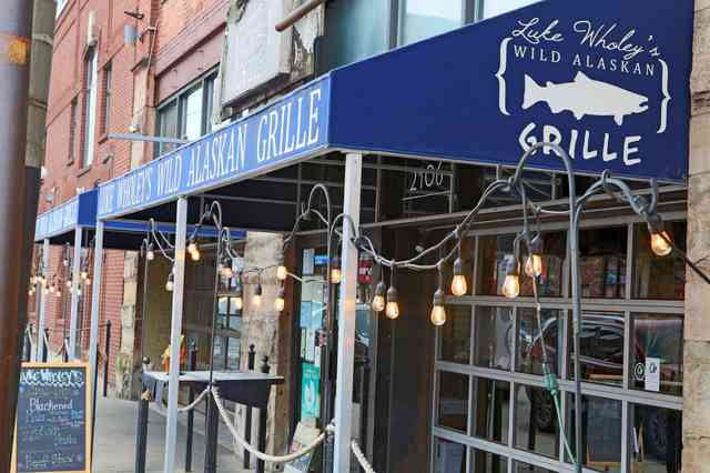 Storefront of Luke Wholey's Wild Alaskan Grille