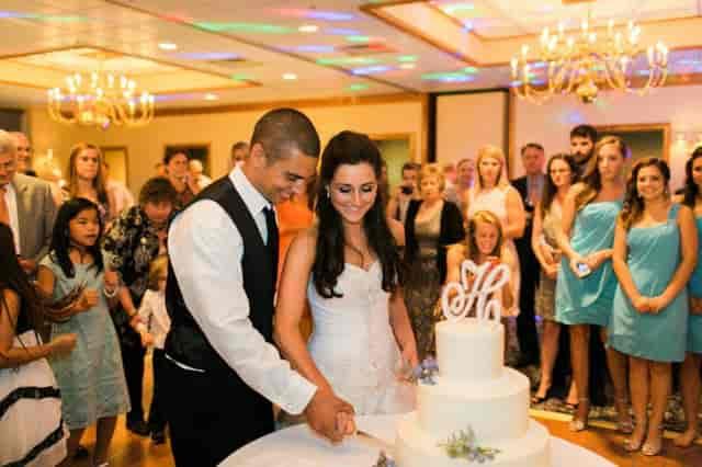 Wedding ceremony at Schaefer's Canal House Ballroom