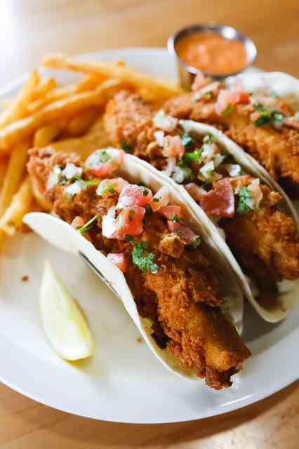 Fish Tacos - fried in photo / grilled also available