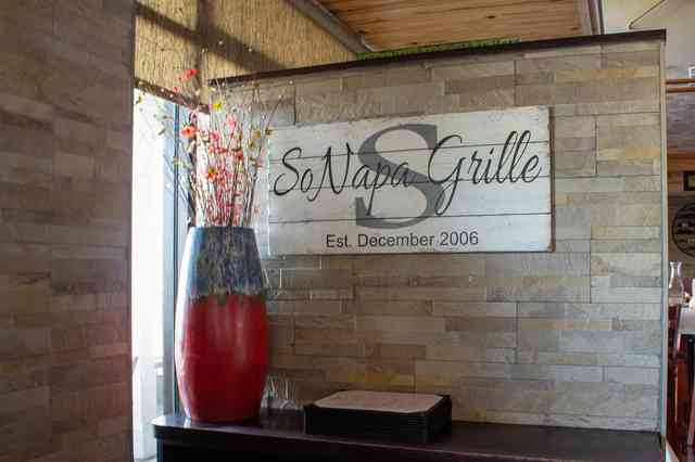 SoNapa interior signage and art display