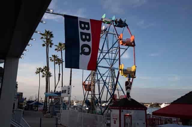 flag and ferris wheel