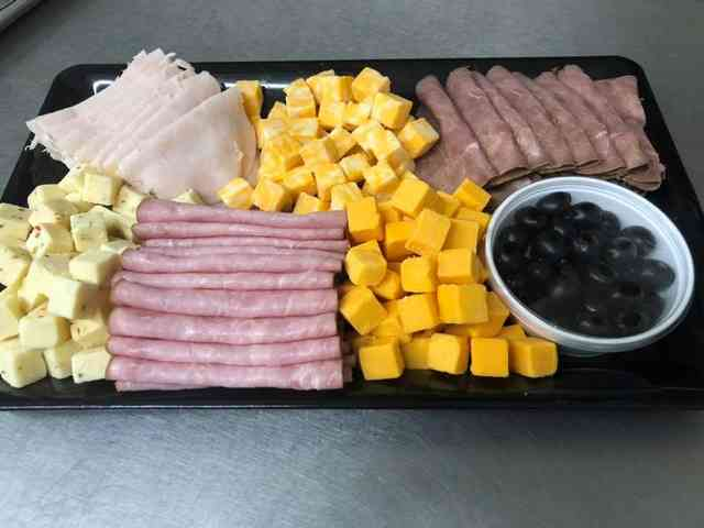 Small meat and cheese tray