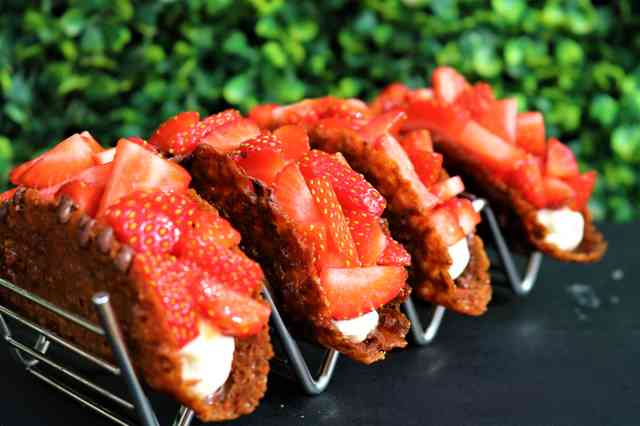 Strawberry tart tacos