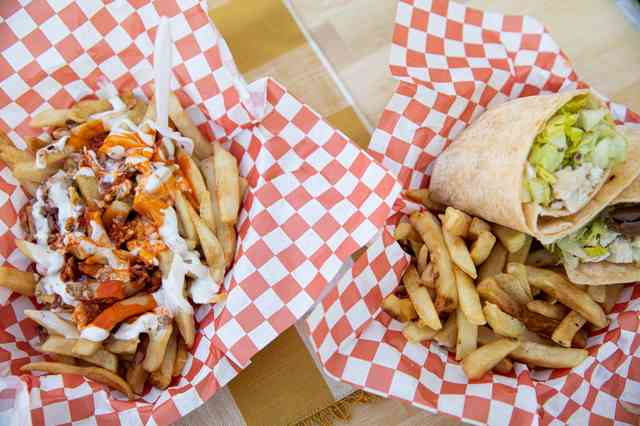 wrap and fries