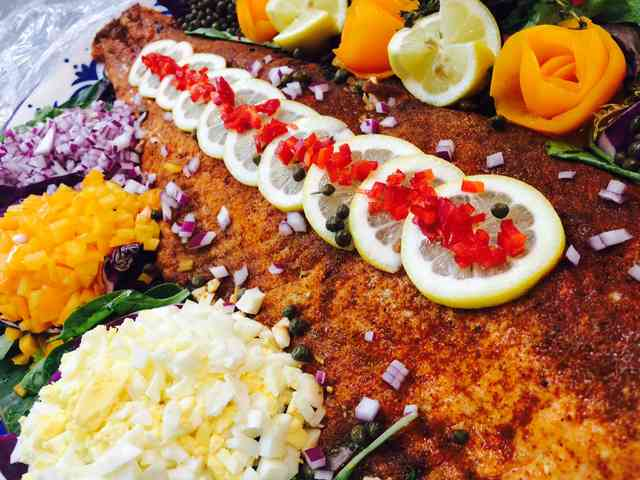 Grilled and chilled salmon