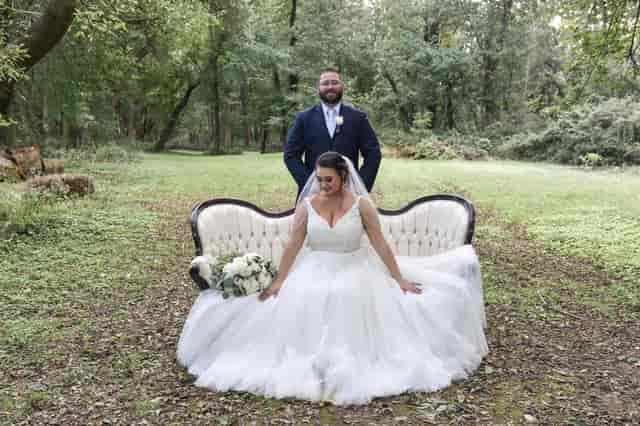 bride on seat