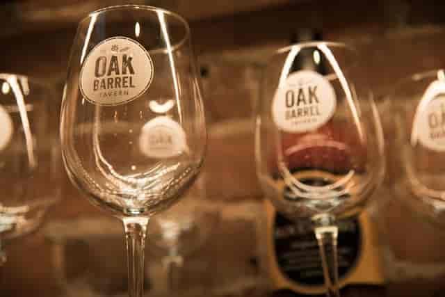 Oak Barrel Tavern wine glasses