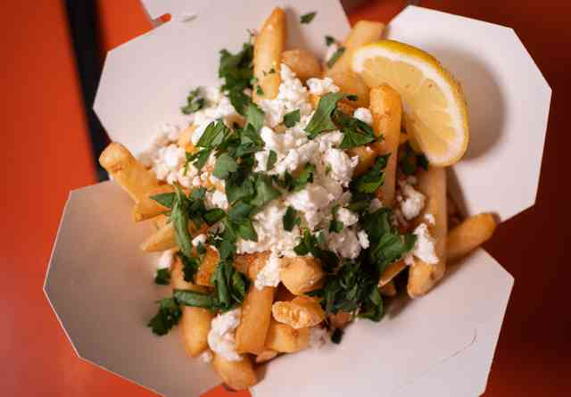 Private Events header image of Greek Fries