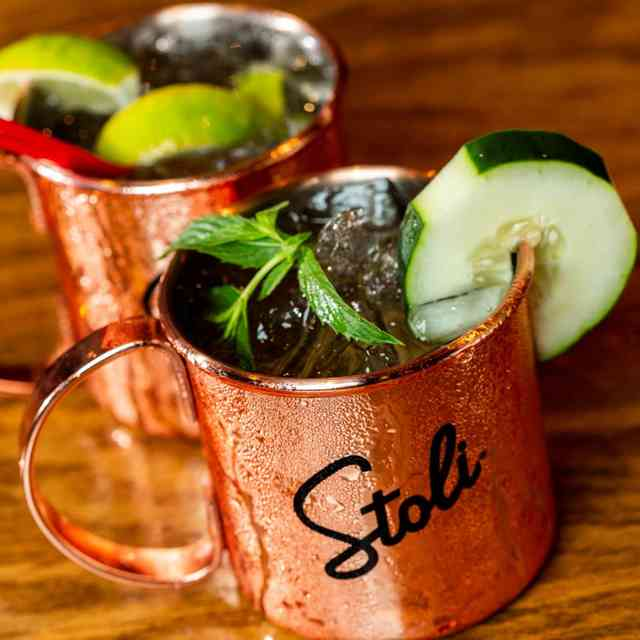 Stoli with mint and cucumber