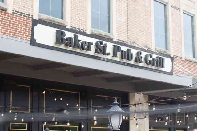 Exterior store front of Baker St. Pub and Grill