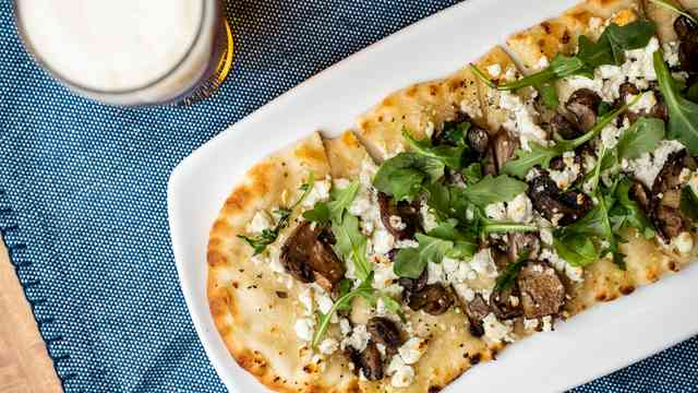 Mushroom Flatbread at Fireside Grille