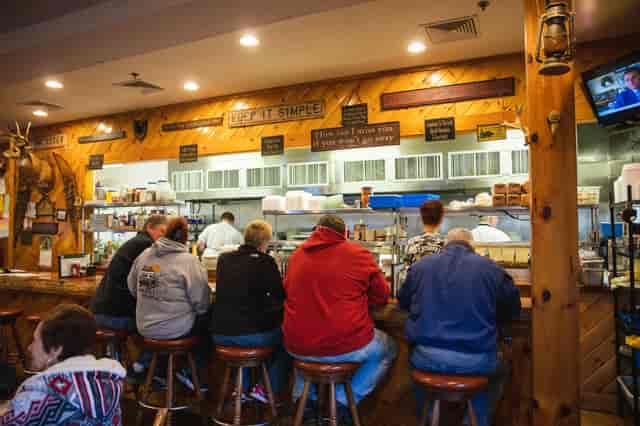 Customers enjoying food at Michael's Bridge Diner