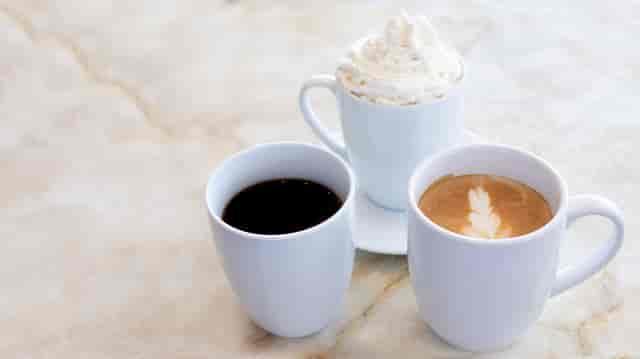 assorted coffee drinks