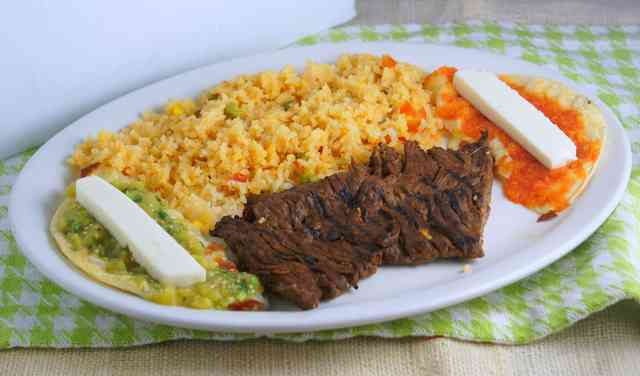 Steak and enchiladas