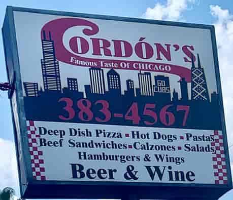 Cordons exterior sign