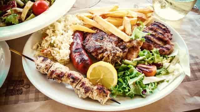 plate of greek food