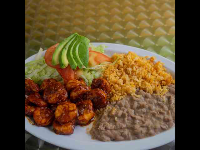 mexican plate with rice & beans