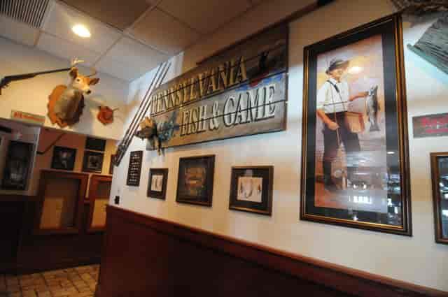 Wall art inside Damon's Grill