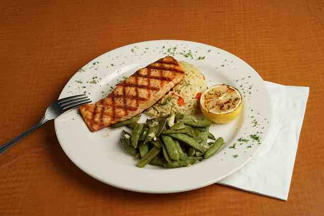 Flame grilled salmon