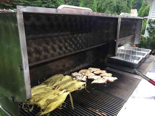 Large outdoor grills