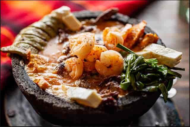 bowl and shrimp