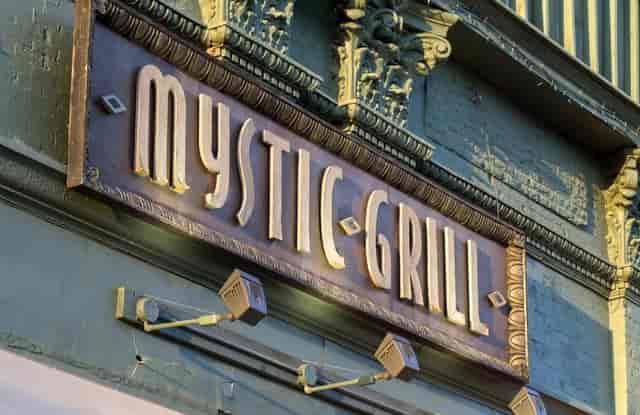 mystic grill sign