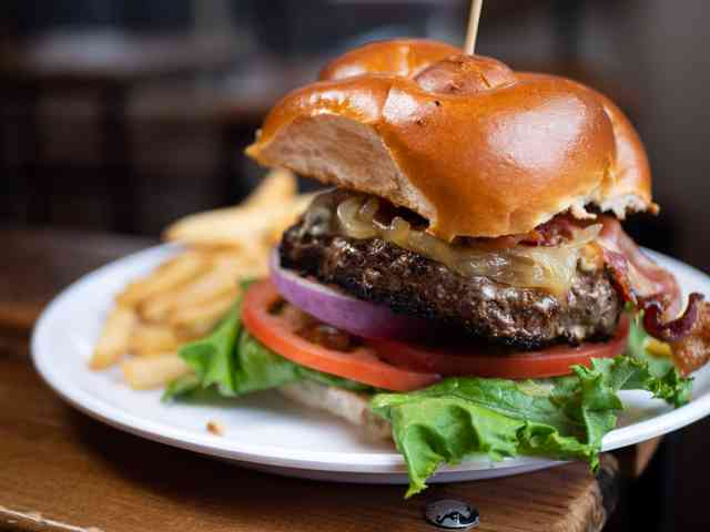 black and blue burger