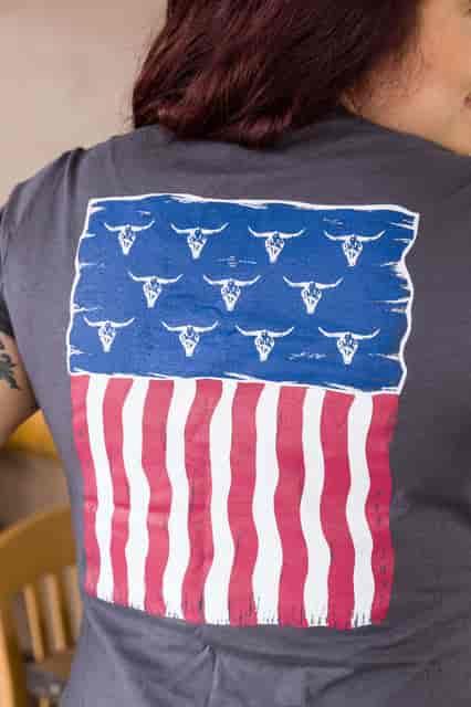 merchadise flag tshirt