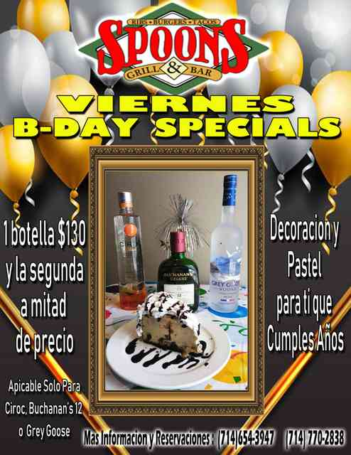 Friday birthday special flyer
