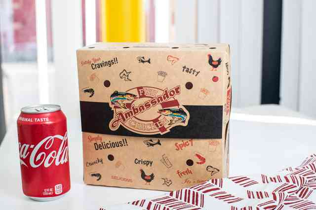 Packaged meal with a can of coke